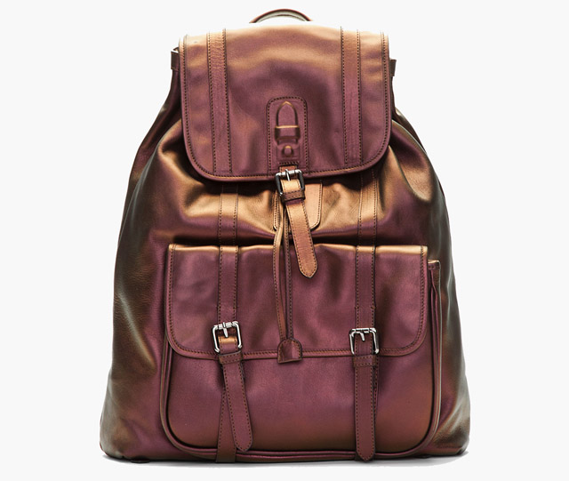 Neil Barrett Copper Iridescent Brasilia Backpack