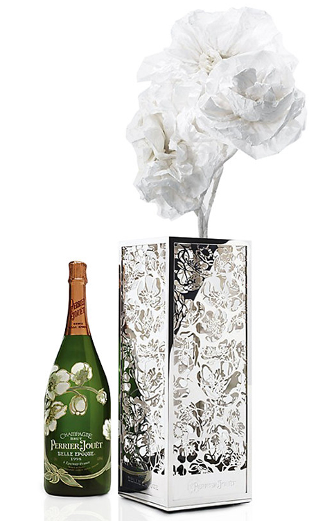 Perrier-Jouet Belle Epoche Magnum and Anemone Vase