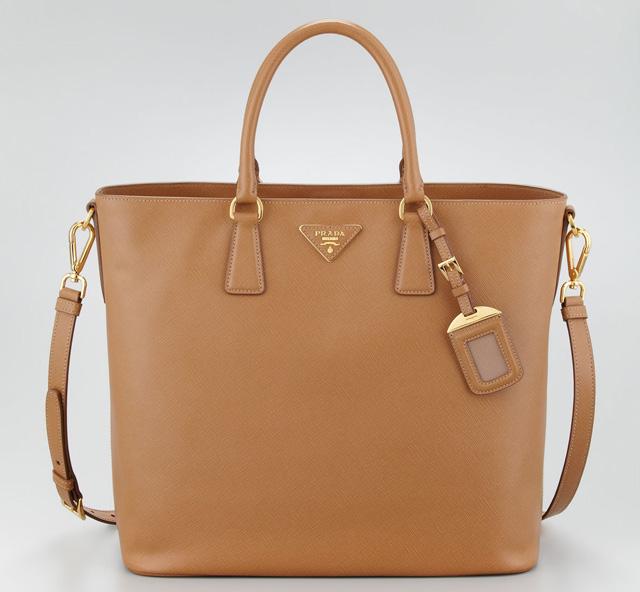 Prada Saffiano Snap-Top Tote Bag