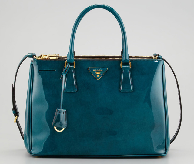 Prada Spazzolato Double Zip Tote Bag