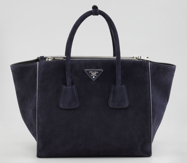Prada Suede Twin Pocket Tote