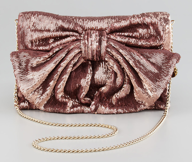 RED Valentino Sequined Bow Shoulder Bag