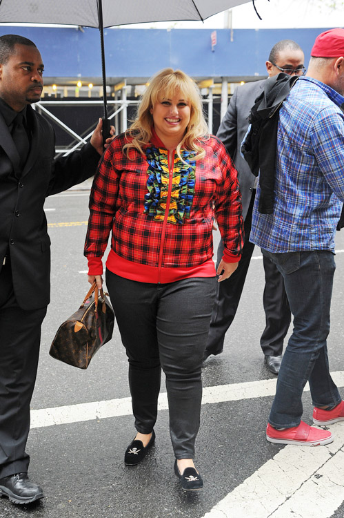 Rebel Wilson carries a Louis Vuitton Mon Monogram Speedy Bag in NYC (1)