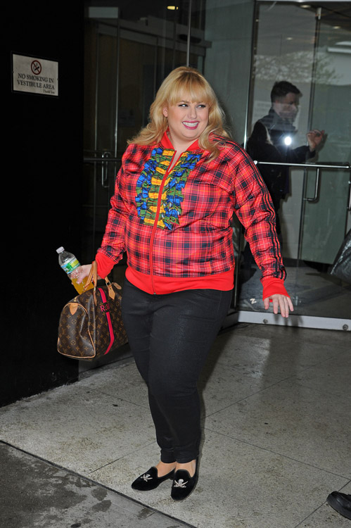 rebel wilson carries a personalized louis vuitton speedy