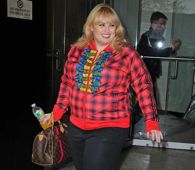 Rebel Wilson carries a Louis Vuitton Mon Monogram Speedy Bag in NYC (5)