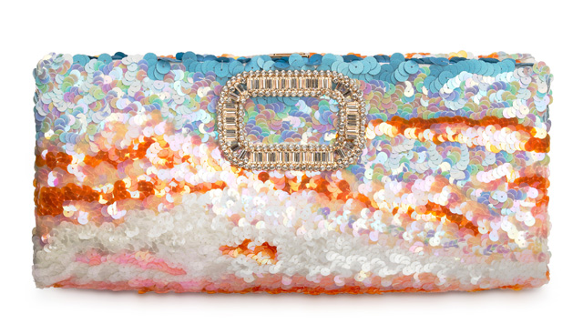 Roger Vivier Paillettes In The Sky Clutch