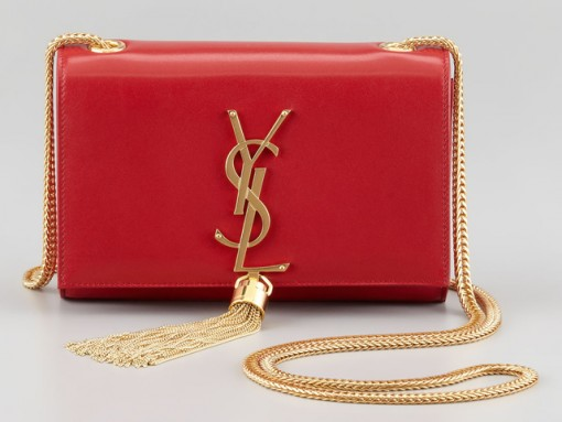 Saint Laurent Cassandre Leather Shoulder Bag