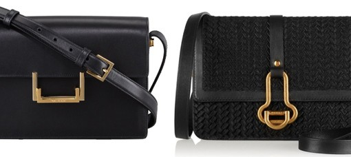 Saint Laurent and Maiyet Black Shoulder Bags