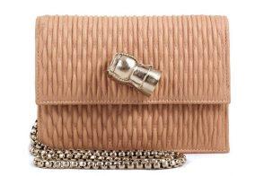 Sarah's Bag Chic Champagne Quilted Shoulder Bag