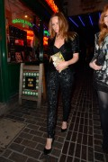 Stella McCartney carries the Stella McCartney Ava Metal Frame Faux Python Clutch (1)
