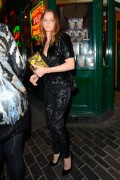 Stella McCartney carries the Stella McCartney Ava Metal Frame Faux Python Clutch (3)