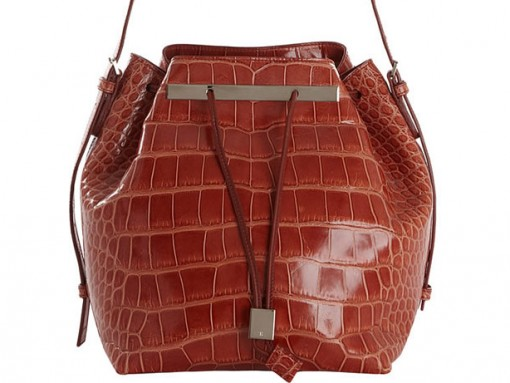 The Row Alligator Drawstring Bucket Bag