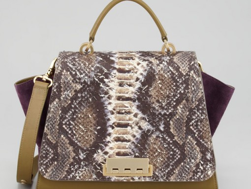 Z Spoke Zac Posen Eartha Python Print Satchel