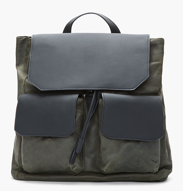 Alexander Wang Flat Pocket Leather Backpack