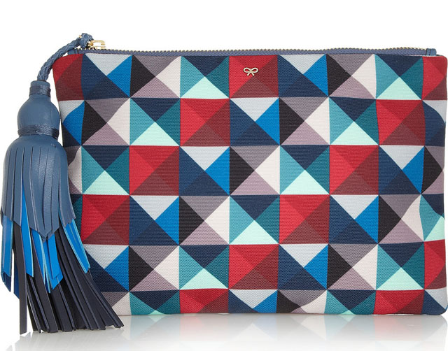 Anya Hindmarch Courtney Canvas Clutch