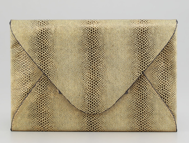 BCBG Harlow Snake-Embossed Evening Clutch
