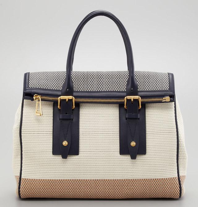 Belstaff Dorchester 36 Woven Leather Bag