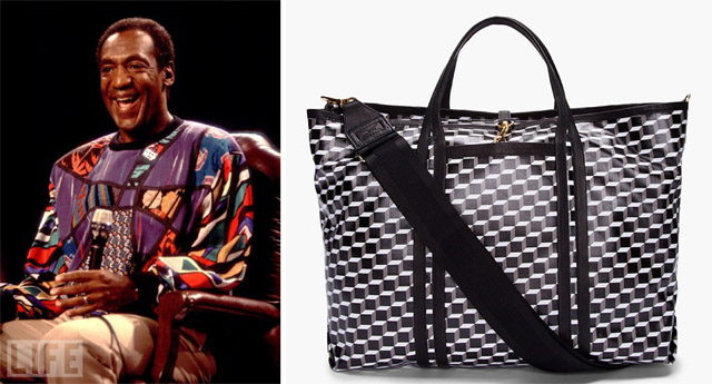 Bill Cosby and Pierre Hardy Cube Print Tote