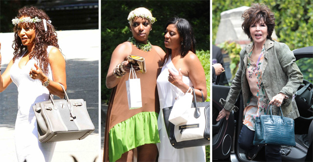 9019a57aabe40 Celebs Carried Some Great Bags to Kim Kardashian s Baby Shower ...
