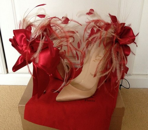 Christian Louboutin Anemone Feather Pumps