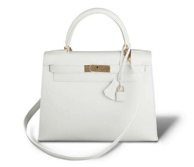 Hermes Kelly Bag White