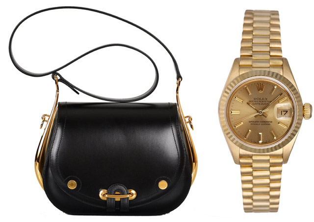 Classic Pair: Hermes Passe Guide Bag and Rolex President Gold Watch