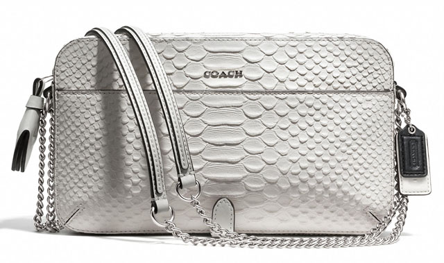 Coach Poppy Embossed Python Flight Bag