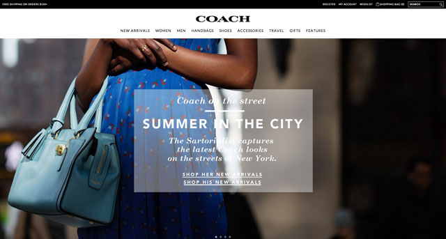 Coach.com New Website Design