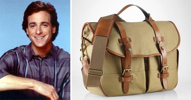 Danny Tanner and Polo Ralph Lauren Canvas Messenger Bag