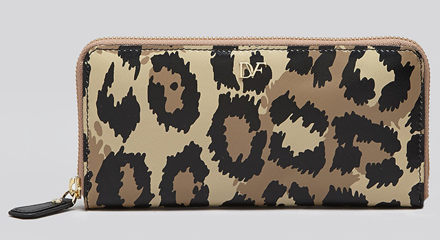 Diane von Furstenberg Leopard Zip Around Wallet