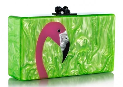 Edie Parker Flamingo Clutch