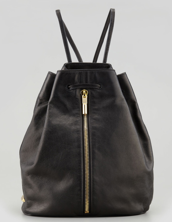 Elizabeth and James LeaElizabeth and James Leather Drawstring Sling Bagther Drawstring Sling Bag
