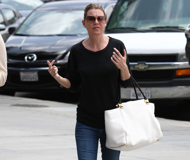 Ellen Pompeo carries a white Lanvin Trilogy Tote in LA. (5)
