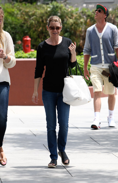 Ellen Pompeo carries a white Lanvin Trilogy Tote in LA. (3)