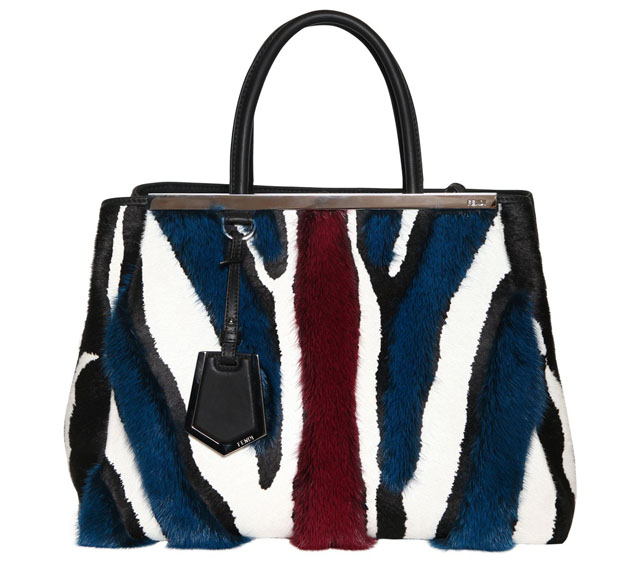 Fendi 2Jours Mink and Leather Medium Bag