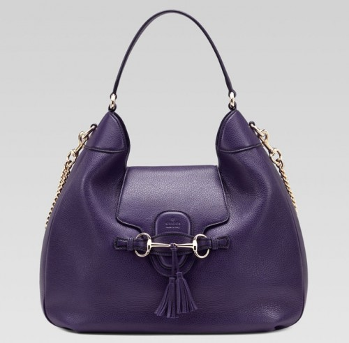 Gucci Emily Leather Hobo Bag