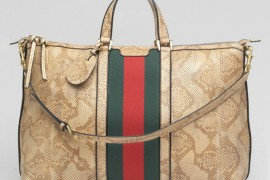 Gucci Natural Python Duffel Bag