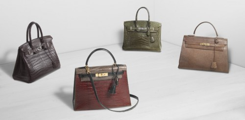 Hermes Exotic Bags Group Shot