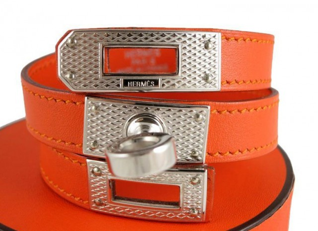 Hermes Guilloche Kelly Double Cuff