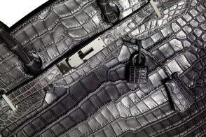 Hermes Matte Crocodile Birkin Closeup