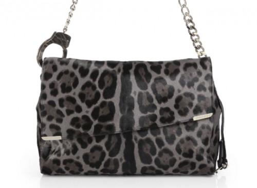 Jimmy Choo Ally Leopard Shoulder Bag