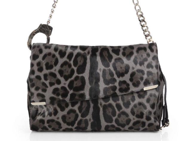 Jimmy Choo Ally Leopard Shoulder Bag