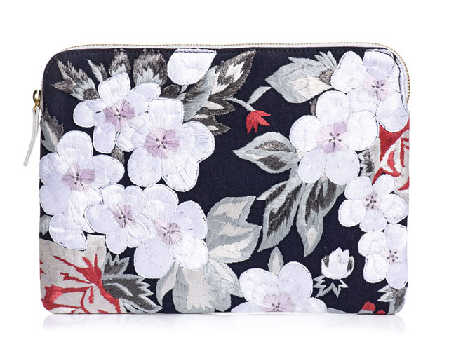 Lizzie Fortunato Floral Embroidered Clutch