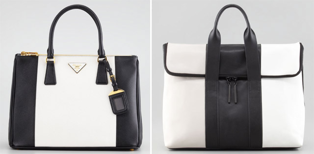 red prada bags - The Look for Less: Black and White Stripes - PurseBlog