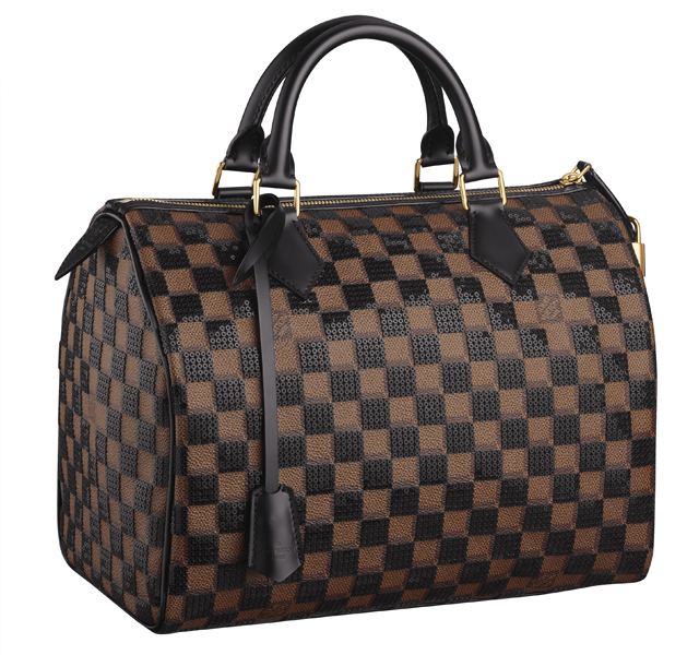 Louis Vuitton Damier Sequin Speedy Bag Black