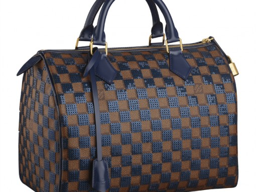 Louis Vuitton Damier Sequin Speedy Bag Navy