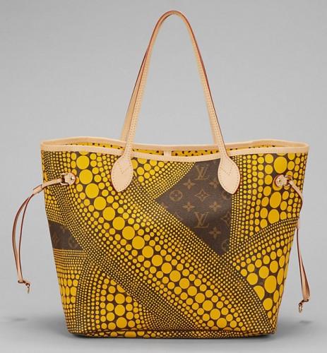Louis Vuitton Kusama Waves Neverfull Bag