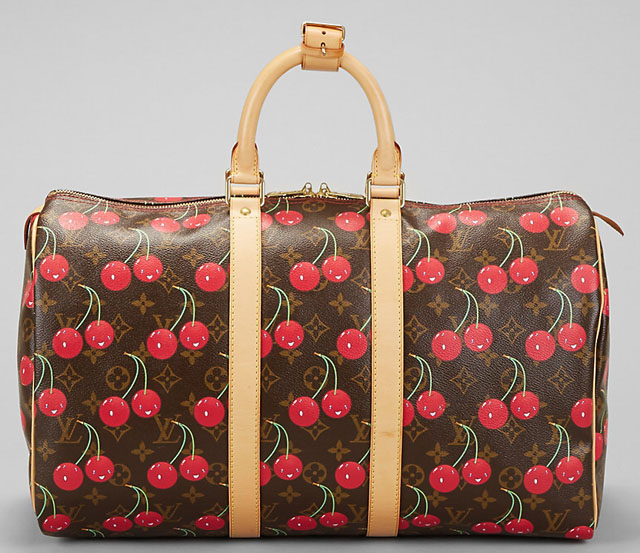 Louis Vuitton Murakami Cerises Keepall Bag