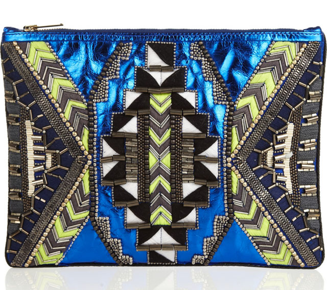 Matthew Williamson Embellished Metallic Clutch