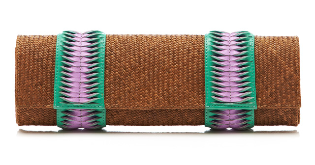 Michu Twisted Iraca Raffia Clutch